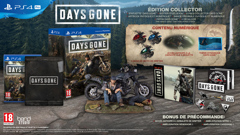 [2019-04-26] Days gone collector-Exclu ps4 Days-gone-édition-collector